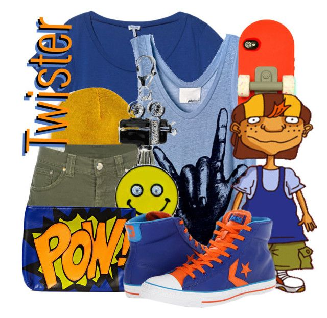 """Maurice """"Twister"""" Rodriguez from Rocket Power by likeghostsinthesnow on Polyvore featuring polyvore fashion style Splendid Dondup Converse Friis & Company Amore La Vita Candie's Hype women's clothing women's fashion women female woman misses juniors"""