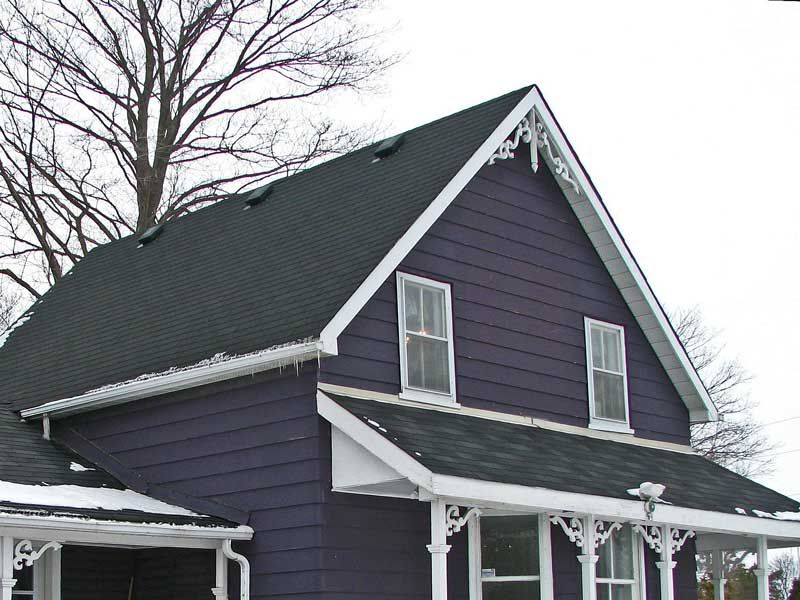 Best Purple Photo Hunter House Exterior Blue Green Roof 400 x 300