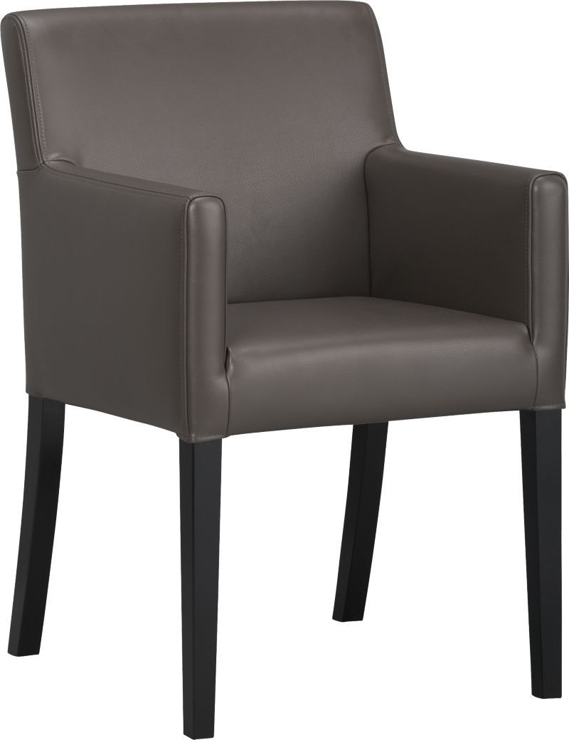 Lowe Smoke Leather Arm Chair In Dining Chairs  Crate And Barrel Pleasing Leather Dining Room Chairs With Arms Inspiration