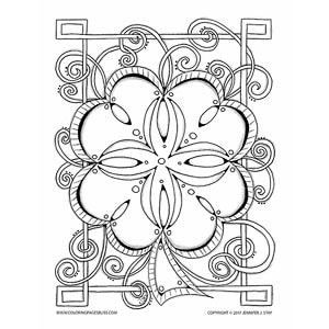 Celtic Clover Mandala Coloring Page Look At All Those Fun Curling Tendrils Just Waiting For You To Color Them The Spaces In Make Perfect Spots