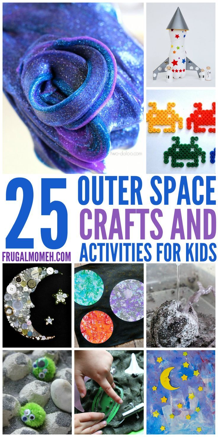 Space Crafts & Activities for Kids is part of Kids Crafts Science Outer Space - Space Crafts & Activities for Kids to help them explore all the wonder of outer space!