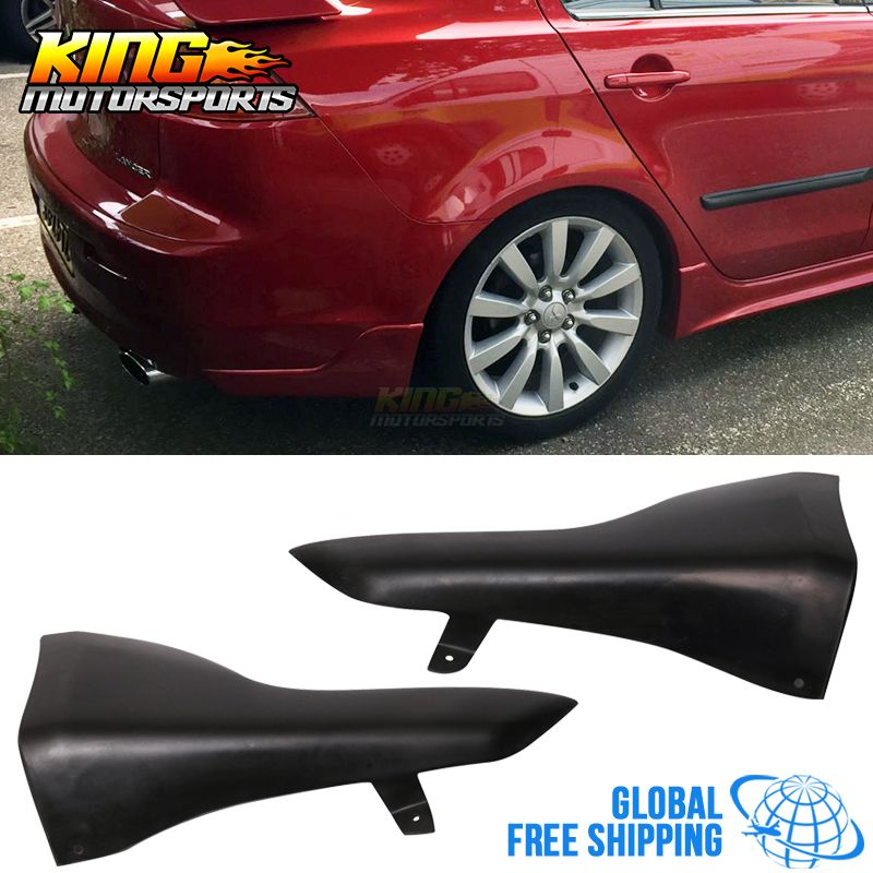 For 08 15 Mitsubishi Lancer Rear Bumper Lip Aprons 2pc Unpainted Pu Urethane Global Free Shipping Worldwide Mitsubishi Lancer Mitsubishi Lancer