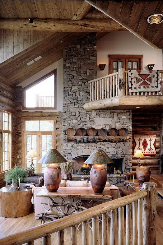 Forest ledge custom log home by architect eliot goss for Log home architects