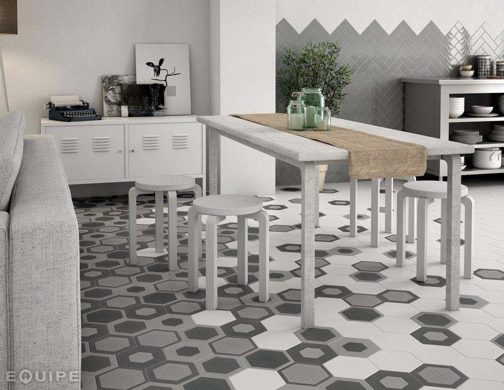 Hexatile harmony google search hexagon tile pattern hexagonal floor tiles by equipe ceramica hexatile collection wall floor porcelain tile kitchen dailygadgetfo Choice Image