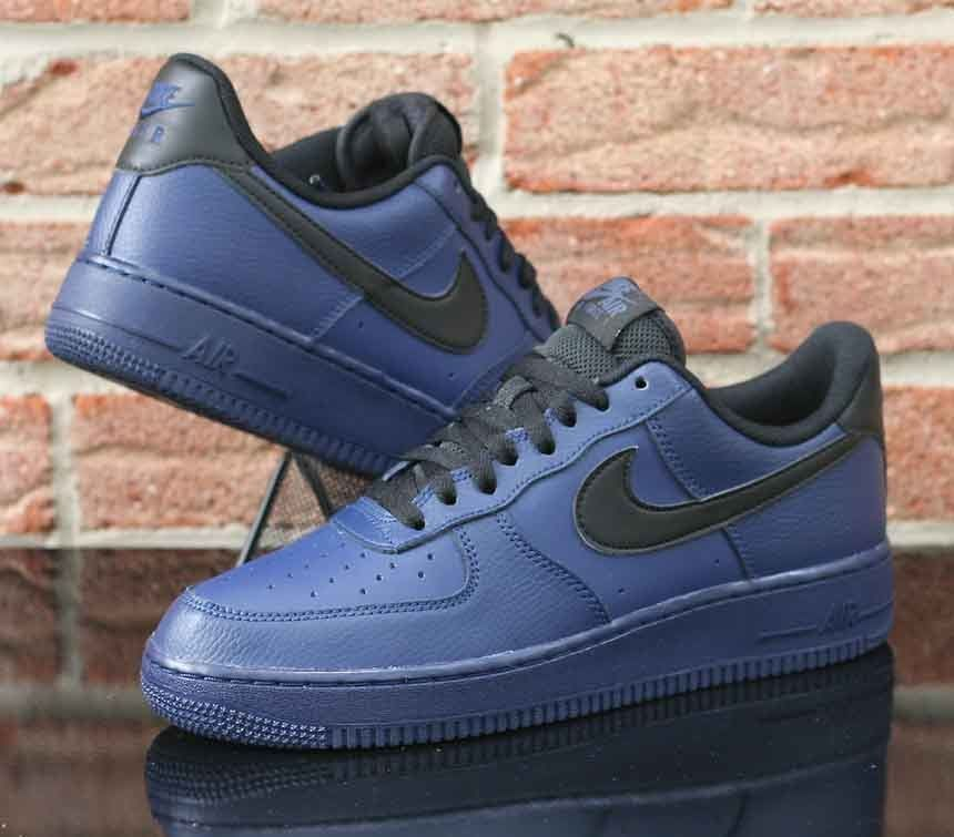 pretty nice a2c7d 24ae2 Nike Air Force 1 Low  07 Men s Binary Blue Black Leather 315122-423 Size  8.5  Nike  Athletic