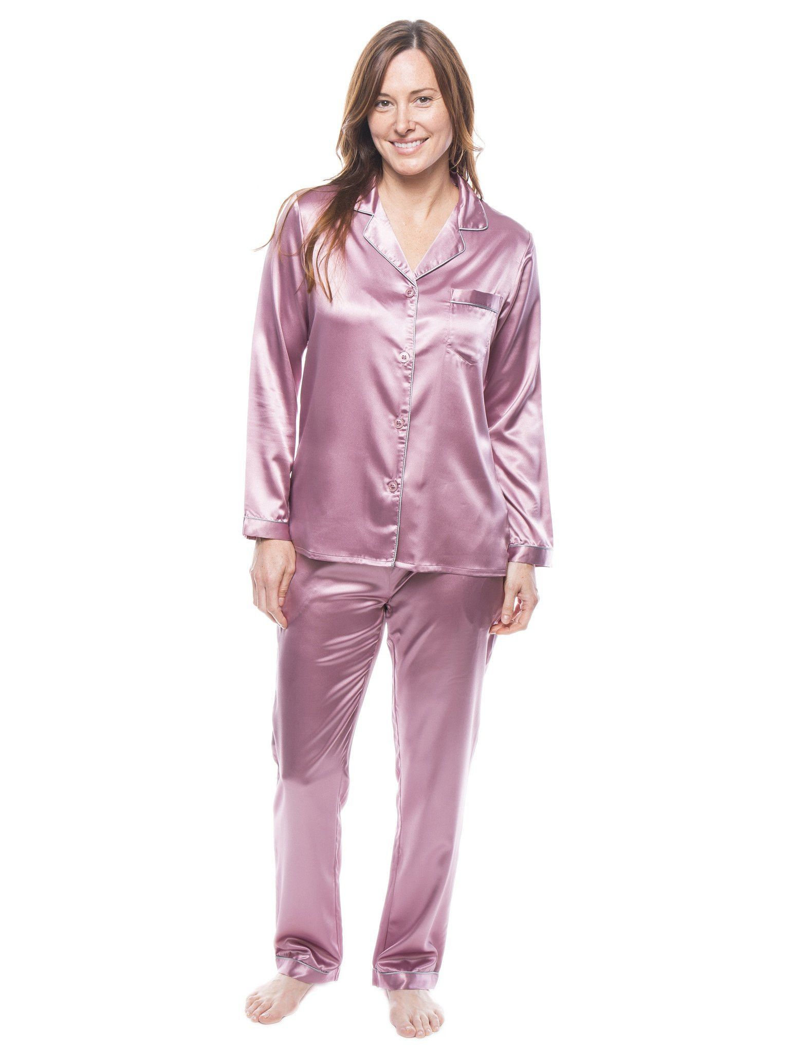 ea5d2cda434e94 Women's Satin Pajama/Sleepwear Set | Pyjama & Night Dress | Satin ...