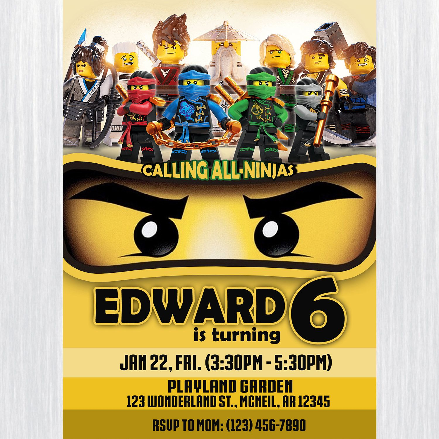 Excited To Share The Latest Addition To My Etsy Shop Lego Ninjago Birthd Superhero Birthday Invitations Printable Birthday Invitations Ninjago Birthday Party