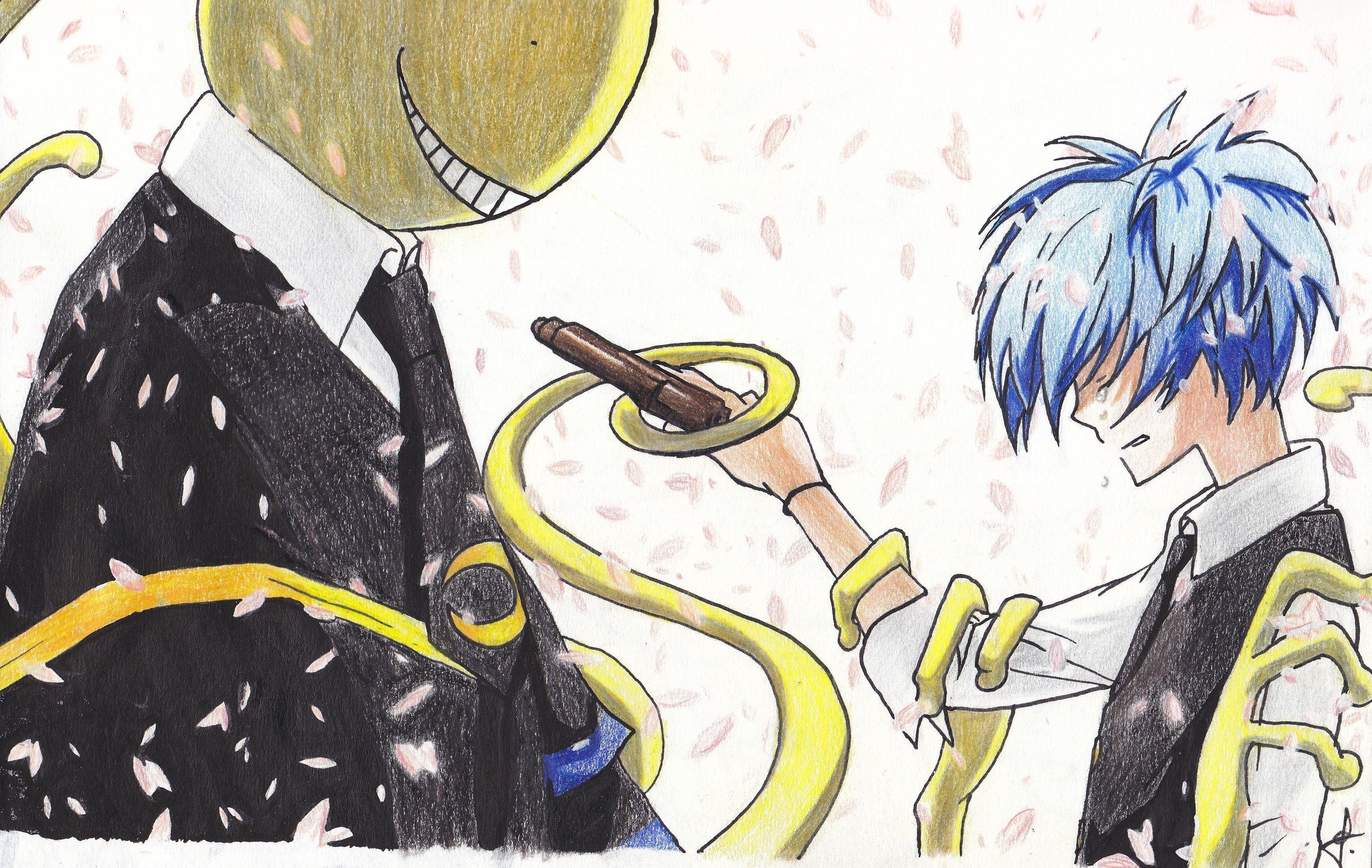 Koro sensei et nagisa assassination classroom dessin
