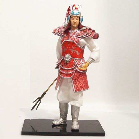 32cm Ancient Chinese Martial Warrior General Commander Handmade Collectible-11