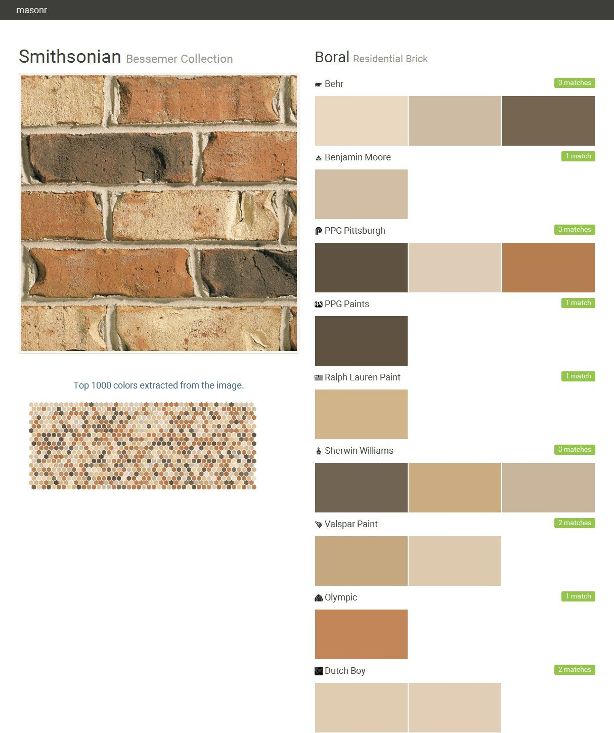 Smithsonian Bessemer Collection Residential Brick Boral Behr Benjamin Moore Ppg Paints