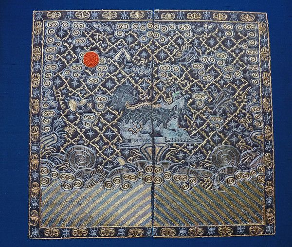 Mandarin Military rank badge of a Bear by QING DYNASTY - Catherine Hunt Oriental…
