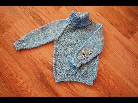 Ютуб вязание на спицах свитера 30
