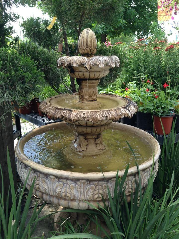 backyard fountain. patio water