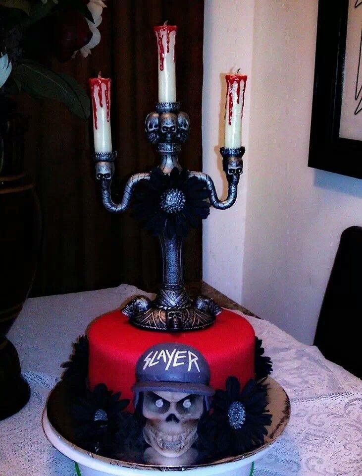 Slayer Birthday Cake CREMATORY KREATIONS Pinterest Birthday - Slayer birthday cake