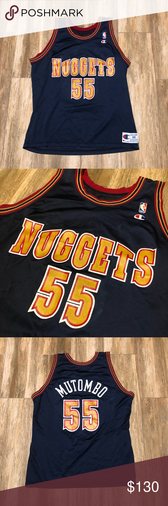 a95665e63e8 Vintage Dikembe Mutombo Nuggets Champion Jersey Vintage Dikembe Mutombo  Nuggets Champion Jersey Condition ~ 10/10 (flawless) NWOT Size ~ 48 (XL) # denver ...