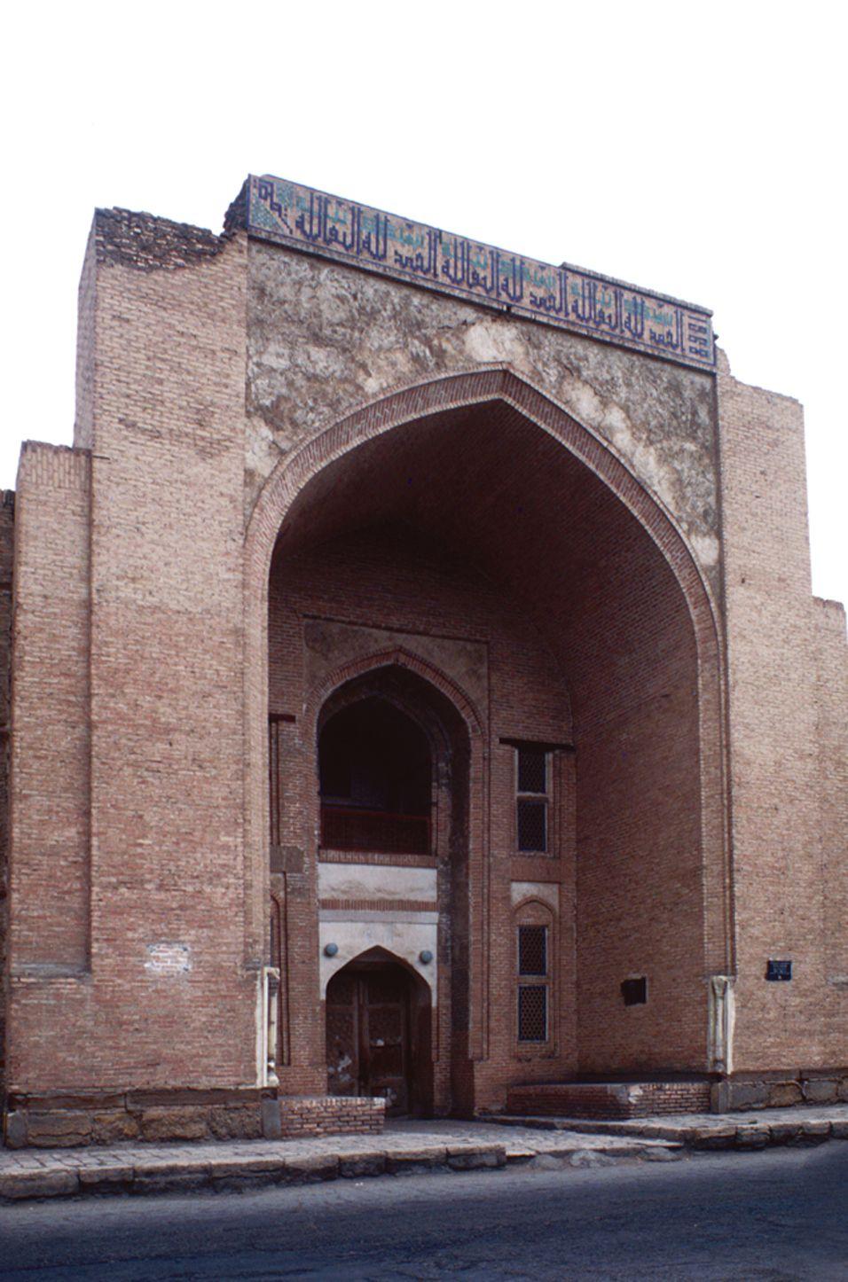 The Kukeldash madrasas, main façade, 1568, (1995)