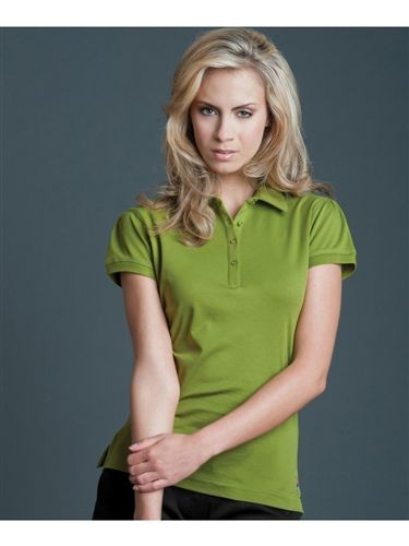 Soft polish cotton ladies golf polo in pine | #golf4her #filagolf