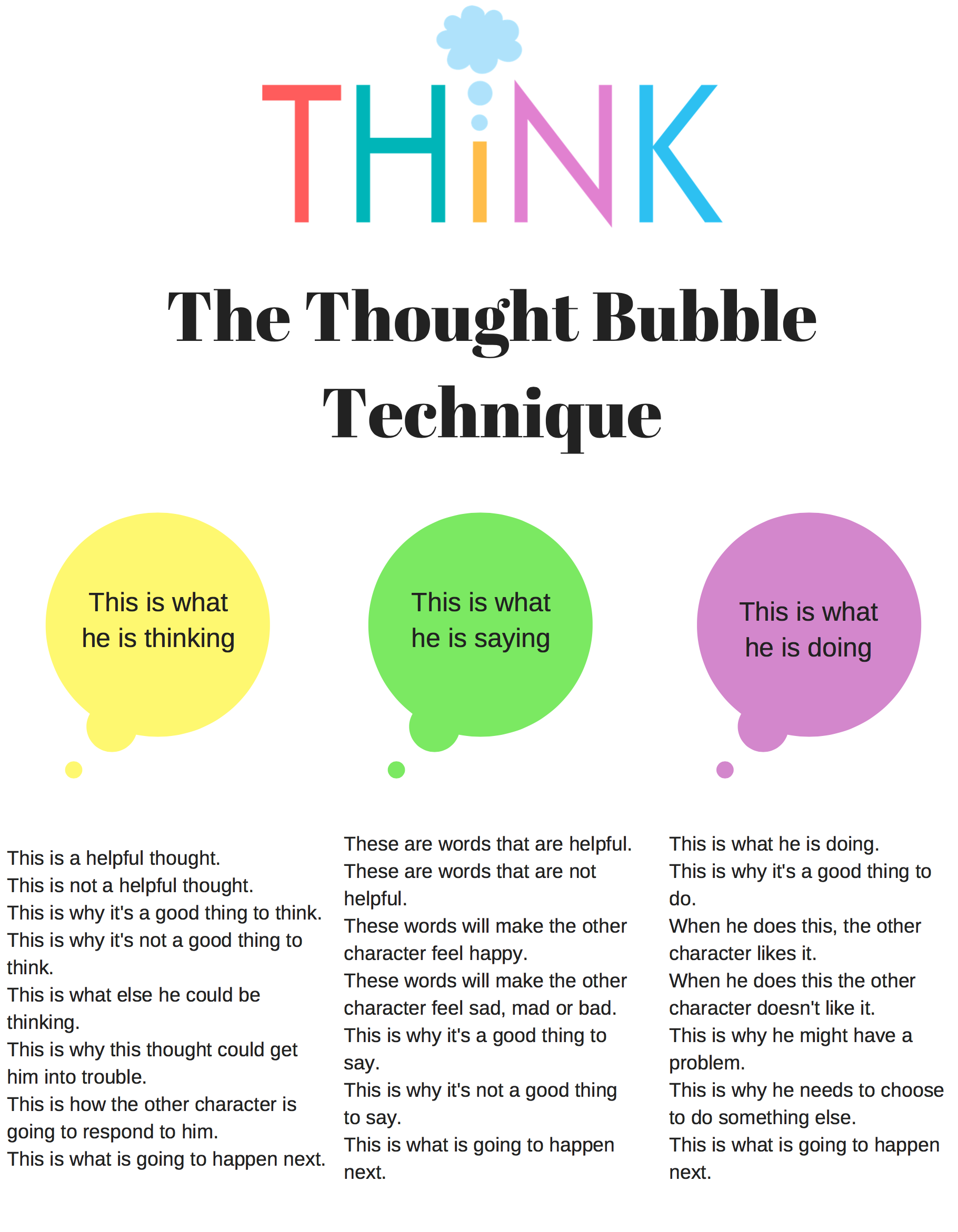Stop Thoughts Worksheet