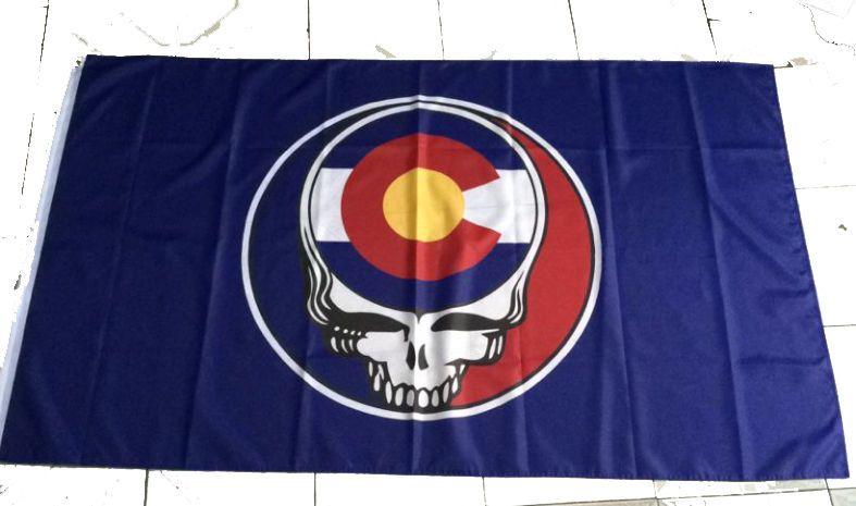 Steal your State Colorado Flag Grateful Dead 3ftX5ft  Lot Flag Broncos Nuggets