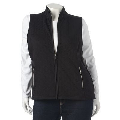 Croft & Barrow® Quilted Vest - Women's Plus