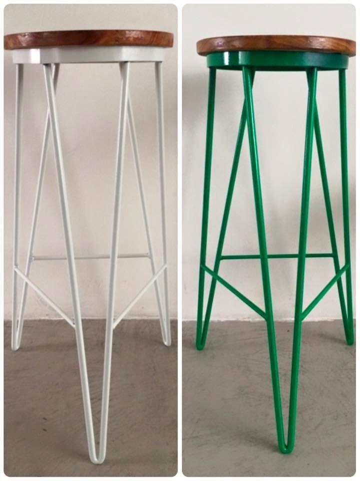 76d9ddaea5c3 banqueta alta taburete hierro y madera colores | High Top Tables ...