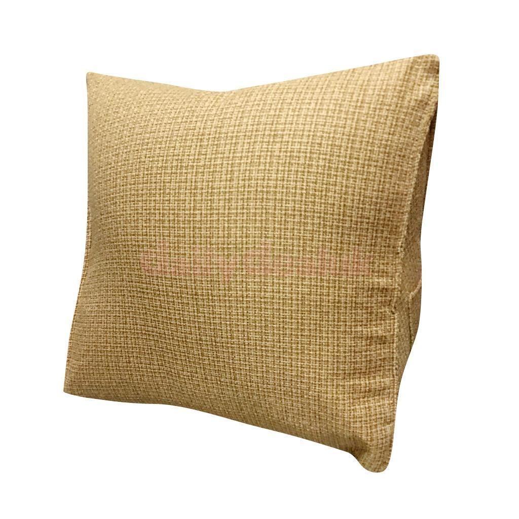 Retro linen cotton throw pillow sleeping cushion home sofa decor