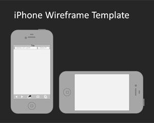 iphone wireframe powerpoint template plantillas ppt. Black Bedroom Furniture Sets. Home Design Ideas