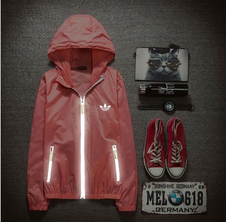 42e55e06699 new 3m reflective jacket men women jacket sport windbreaker jaqueta  masculina streetwear hip hop Sunscreen bomber