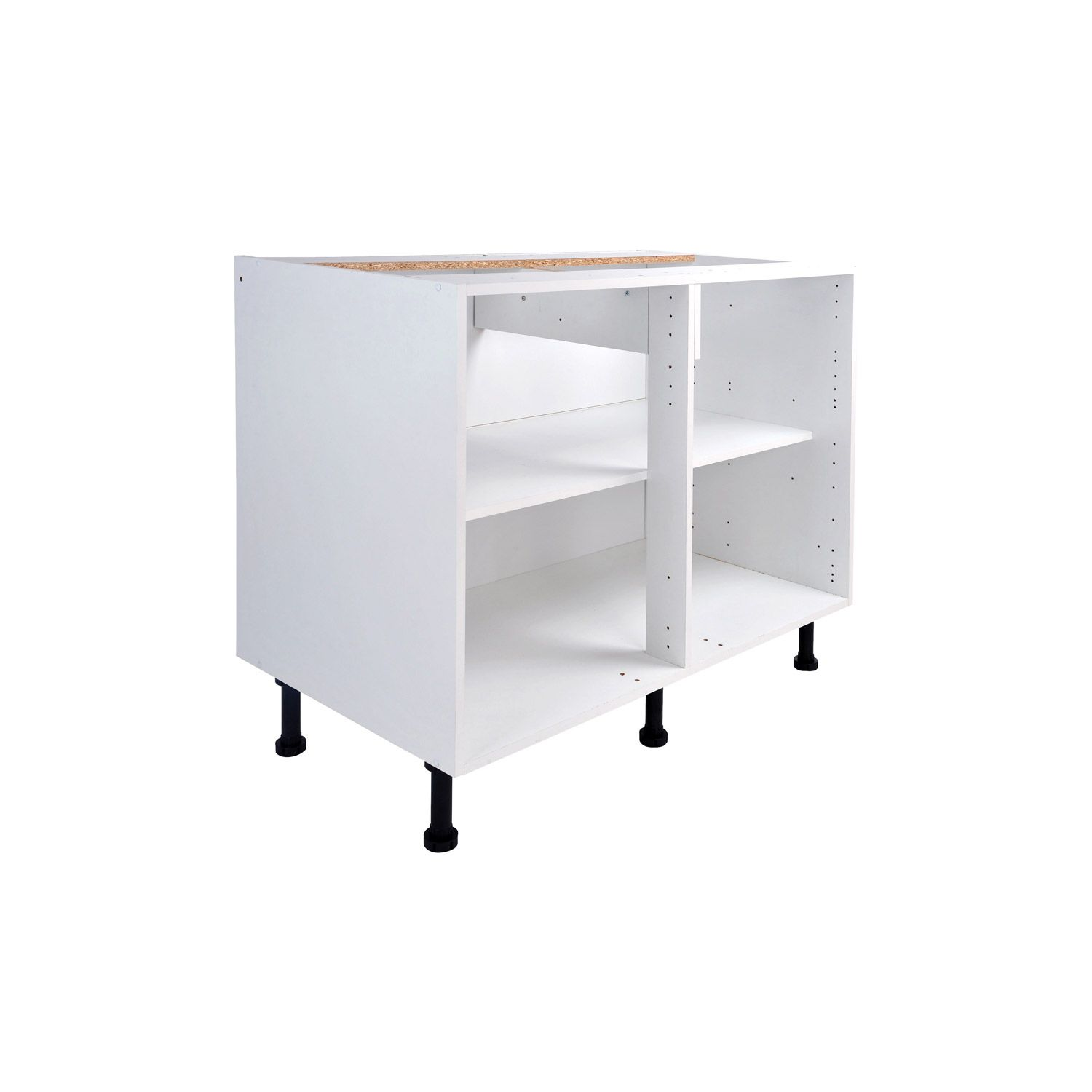 caisson de cuisine bas b100 ab 100 delinia blanc l100 x h85 x p56 cm 64eur leroy merlin. Black Bedroom Furniture Sets. Home Design Ideas