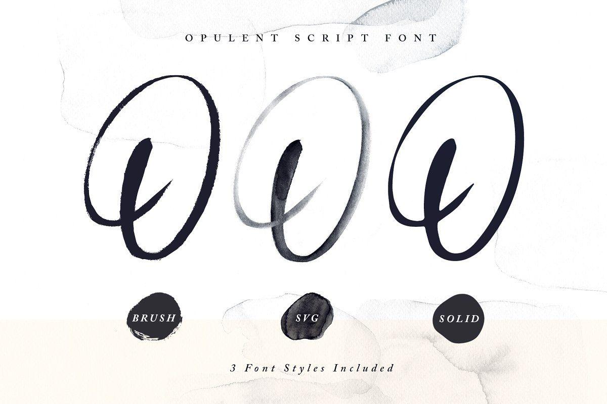Opulent Font Svg Brush Font Fonts Lettering