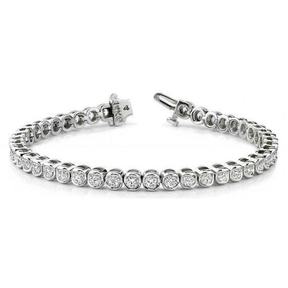1 Carat Diamond Bezel Tennis Bracelet Cyber Monday Black Friday Deals Anniversary Christmas Gif Bezel Diamond Tennis Bracelet Diamond Diamond Bracelets