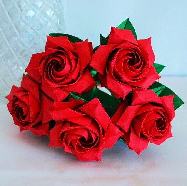 How to Fold a Paper Rose (with Pictures) - wikiHow | 616x617