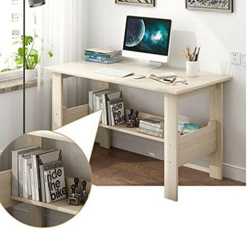 White Desk Computer Desk Modern Simple Study Desk Industrial Style Workstation Ebay In 2020 Home Office Furniture Desk Computer Desks For Home Simple Computer Desk