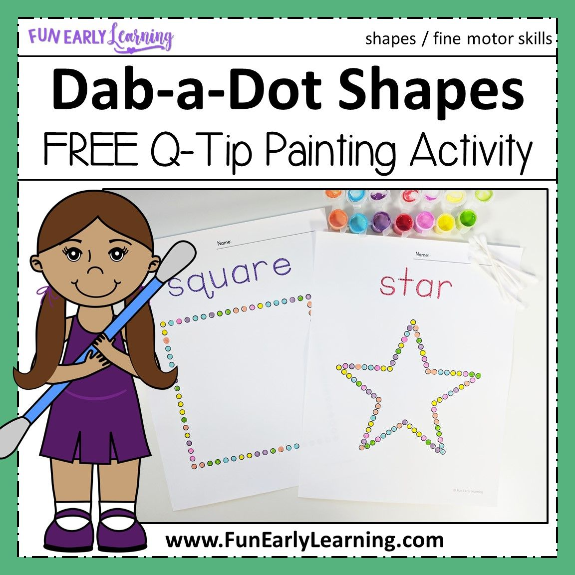 Dab A Dot Shapes Q Tip Painting