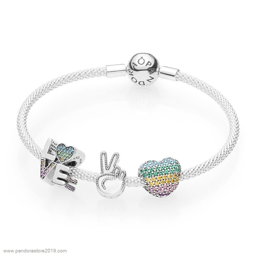 Promo Pandora Amor The Rainbow Pulseras Set | Pandora, Bracelets d ...