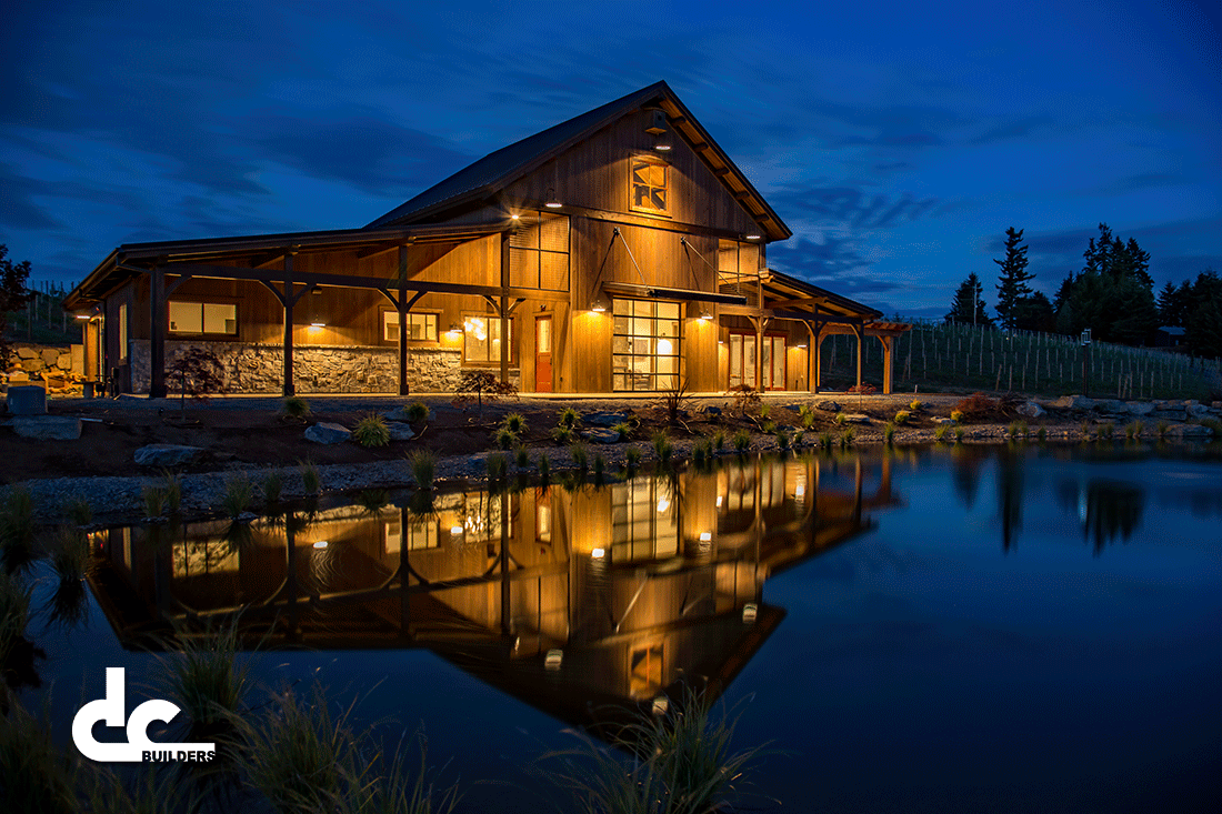 Barrel House Timber Frame Wine Tasting Room in West Linn ...
