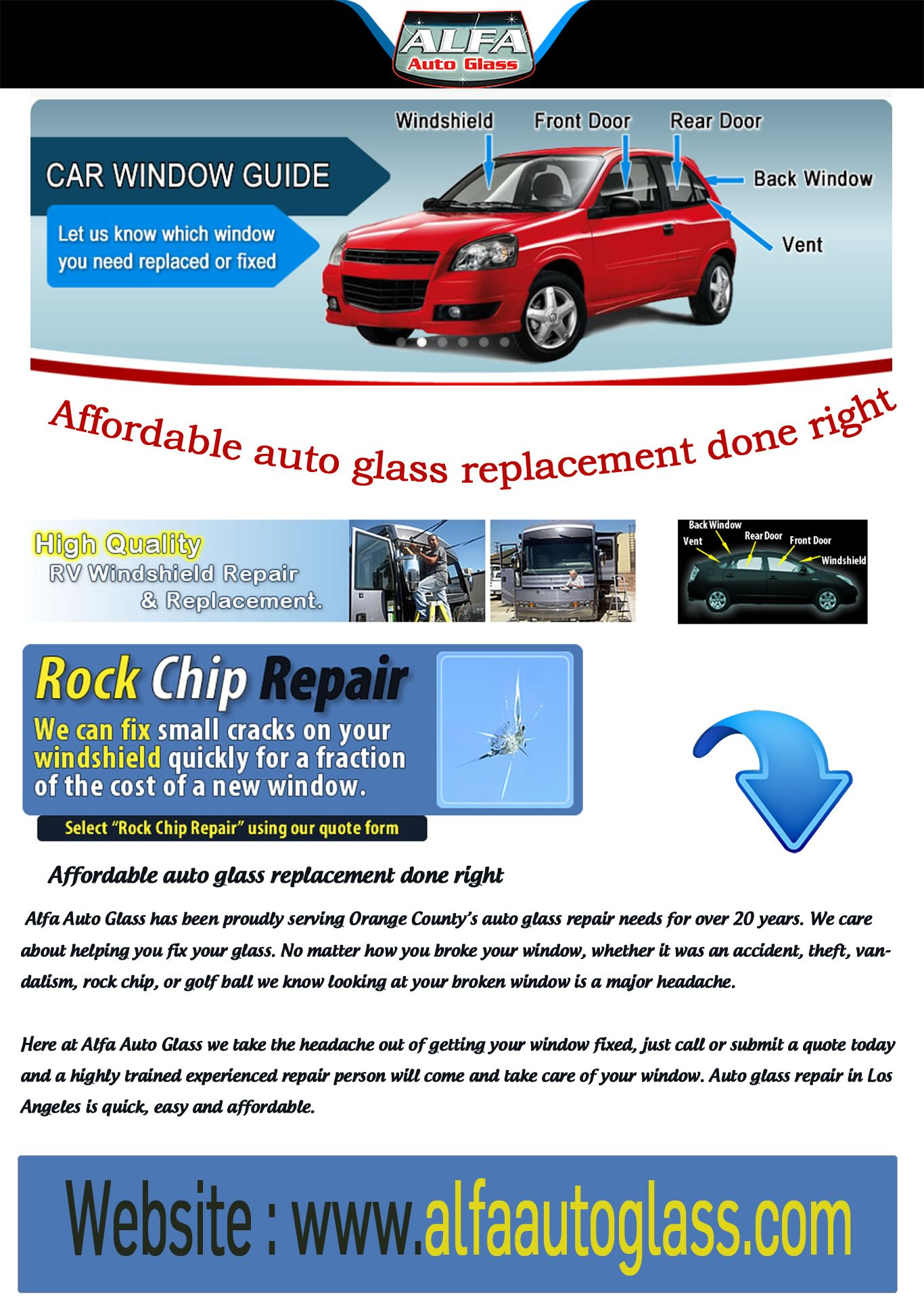 Auto Glass Replacement Quote Whatever Piece Of Glass Is Damaged On Your Vehicle Alfa Auto Glass .
