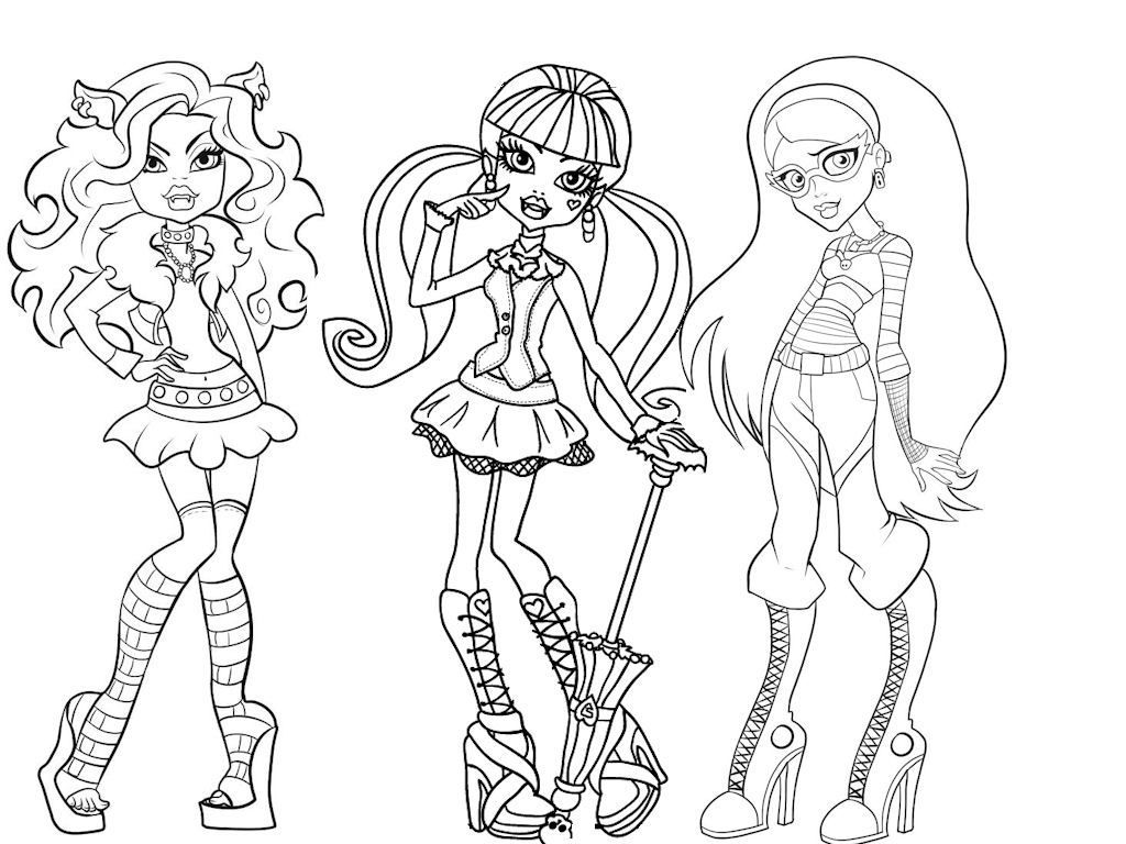 Dibujo Para Colorear Monster High Paginas Monster High