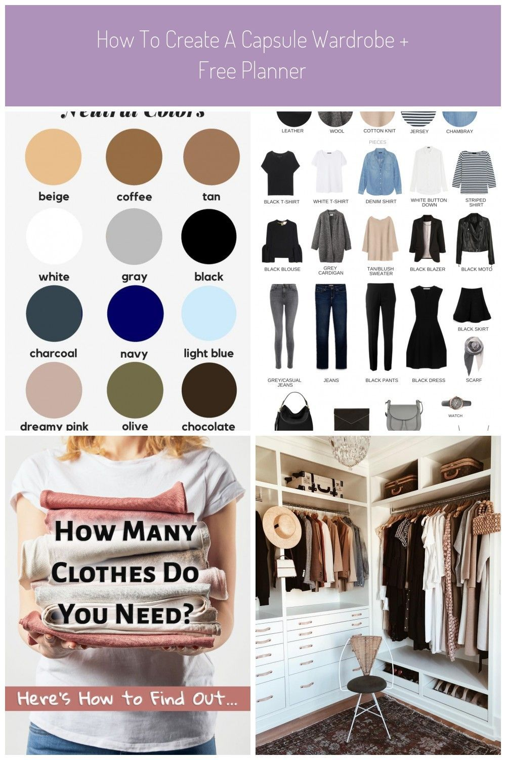 How To Create A Capsule Wardrobe|Learn in 7 easy to follow
