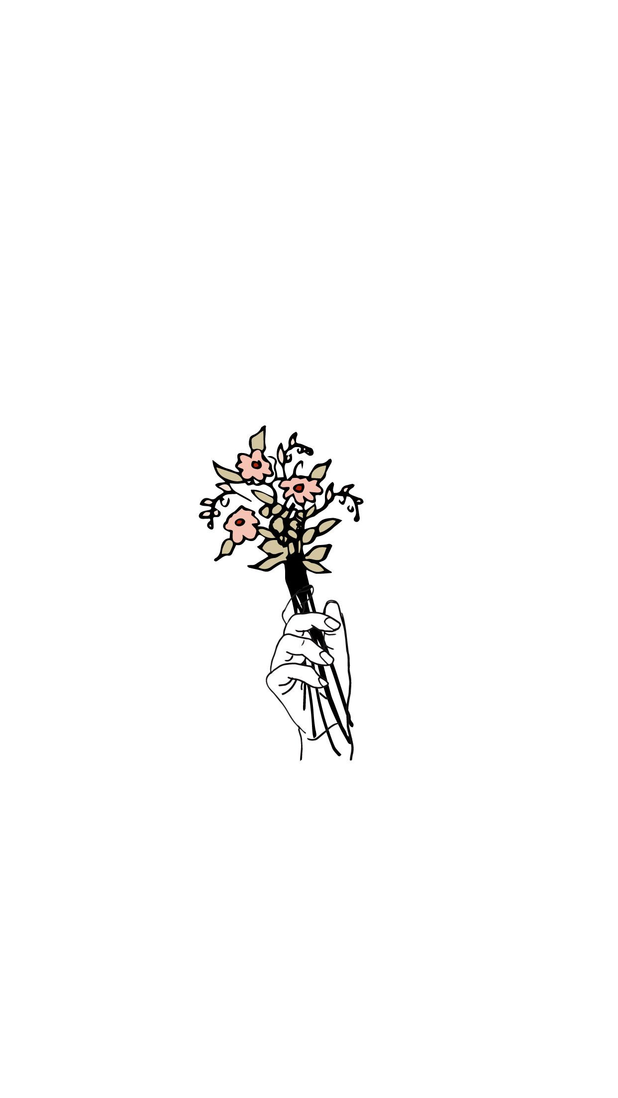 Even In The Smallest Places Can A Garden Grow Minimalist Wallpaper Tumblr Drawings Easy Aesthetic Iphone Wallpaper
