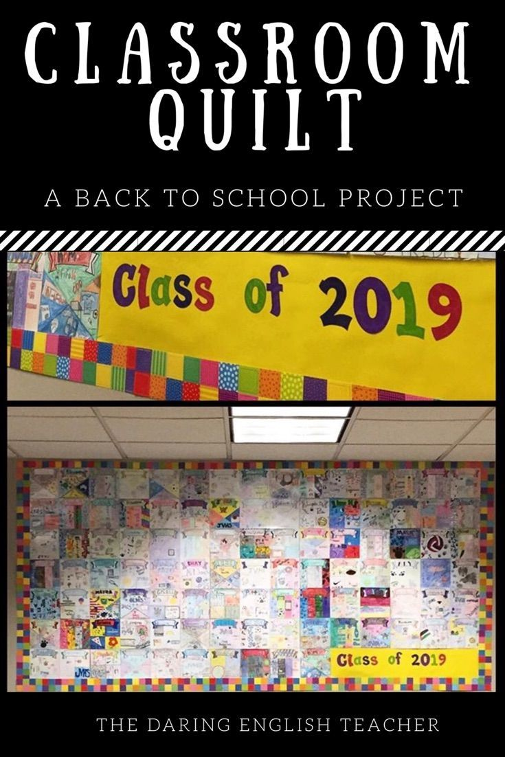 Back to school quilt bulletin board activity high school students get to know your new students this school year by creating a classroom quilt your middle school and high school students will love it fandeluxe Gallery