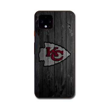 Kansas City Chiefs Nfl Logo Dark Wood Wallpaper Google Pixel 4 Xl Case Babycase