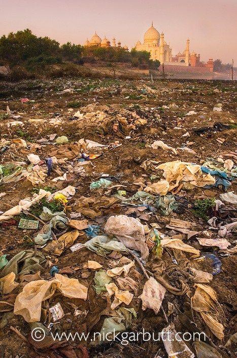 Taj Mahal View from Trash Field