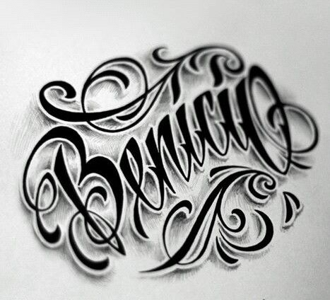 Chicano Lettering Tattoo Lettering Design Chicano Lettering