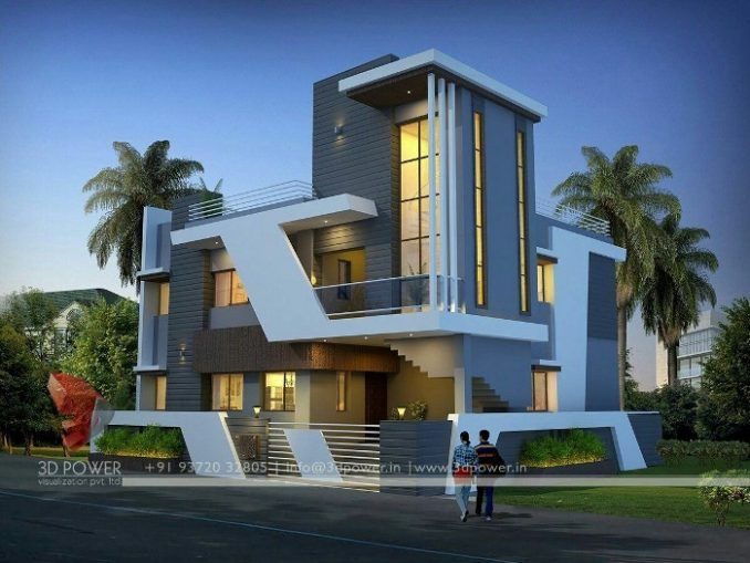 21 Impressive Modern Two Storey Exterior Renders For Inspiration House And Decors Modern House Plans Bungalow House Design Modern House Design