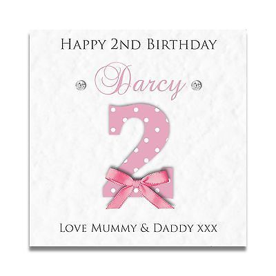 Handmade Personalised Girls 1st 2nd 3rd 4th Daughter Granddaughter Birthday Card