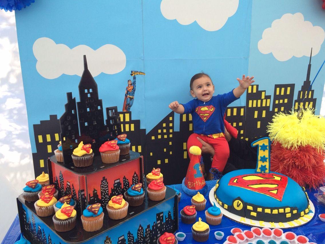 Alexander S First Birthday Superman Theme Superman Birthday