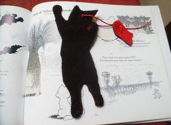 """Marque page avec chat: """"Jamais sans ma souris"""" version 2"""