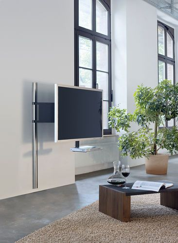 Contemporary Tv Wall Bracket With Holder For Dvd Player Swivel