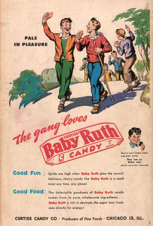 Baby Ruth ad from the 1940's | Vintage ads, Top baby ...